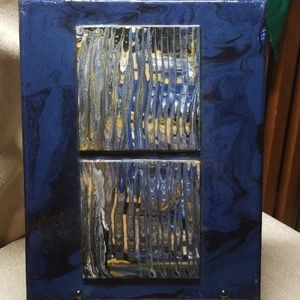 "Wall Art - Original Acrylic Dimensional Painting ""Reflection"""